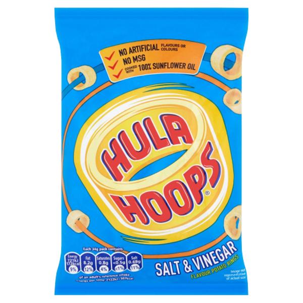 Hula Hoops Hula Hoops Salt & Vinegar Potato Rings 34g