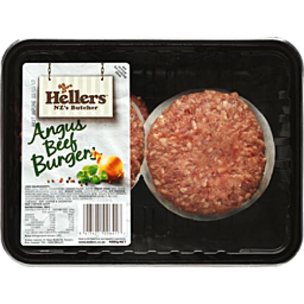 Hellers Burgers Pure Angus Beef 400g