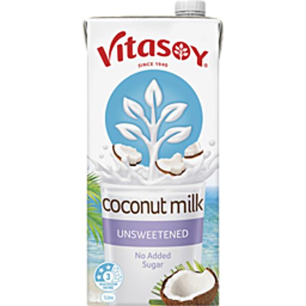 Vitasoy UHT Unsweetened Coconut Milk 1L