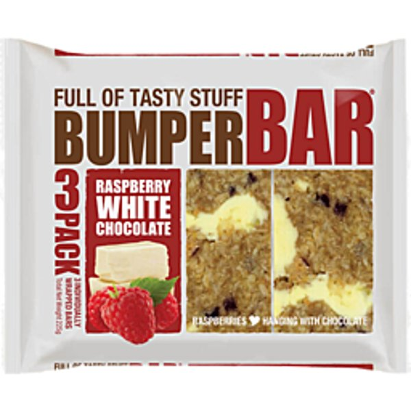 Cookie Time Bumper Bars Raspberry & White Choc 225g (75g x 3pk)