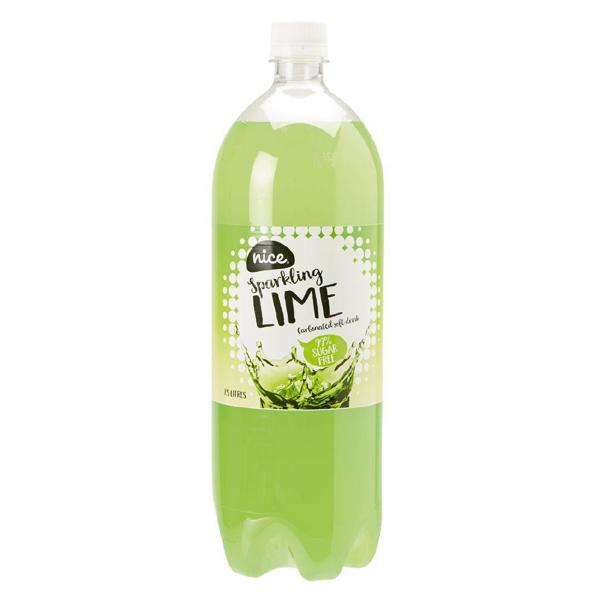 Nice 99% Sugar Free Lime Carbonated Beverage Drink 1.5L