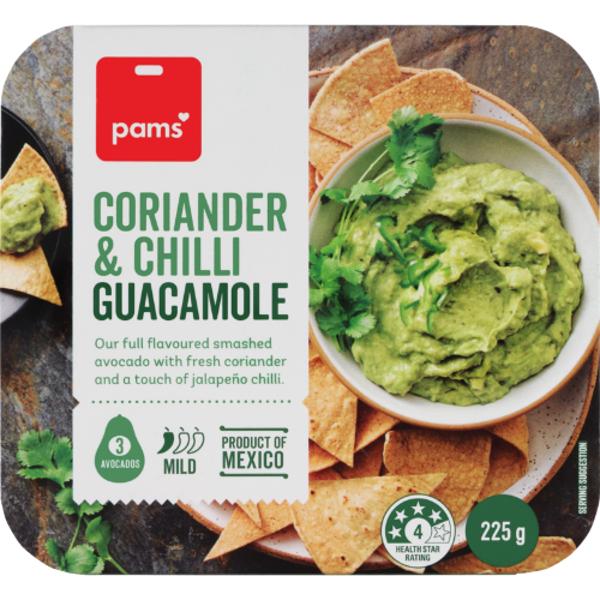 Pams Coriander & Chilli Guacamole 225g
