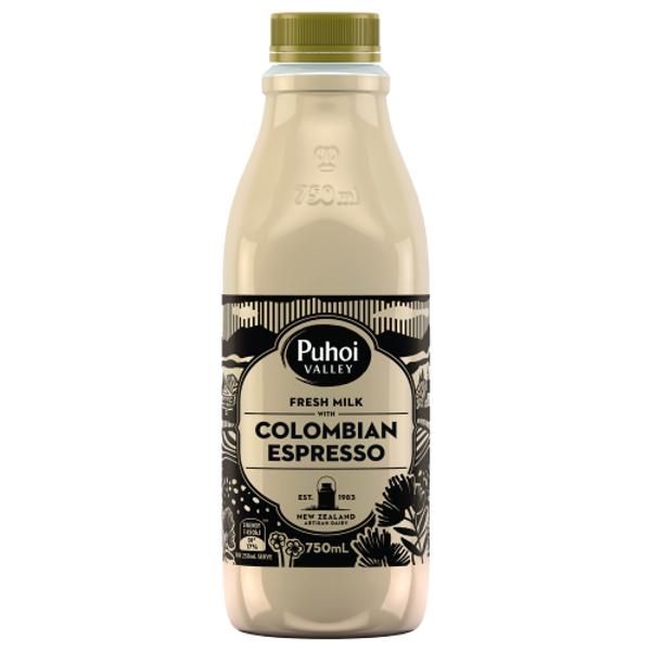 Puhoi Valley Colombian Espresso Flavoured Milk 750ml