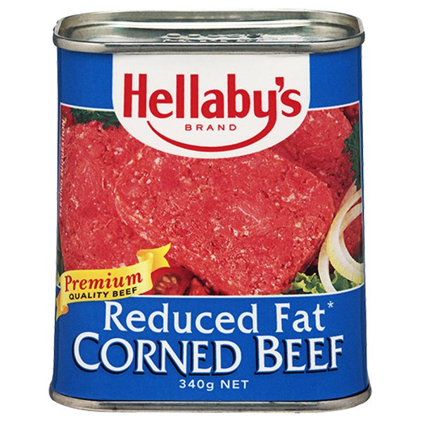 Hellabys Reduced Fat Corned Beef 340g