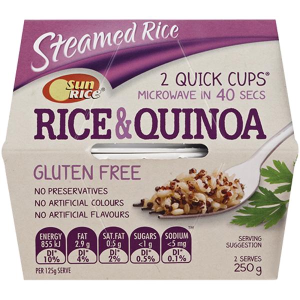 SunRice Quick Cup Brown Rice & Quinoa 2pk
