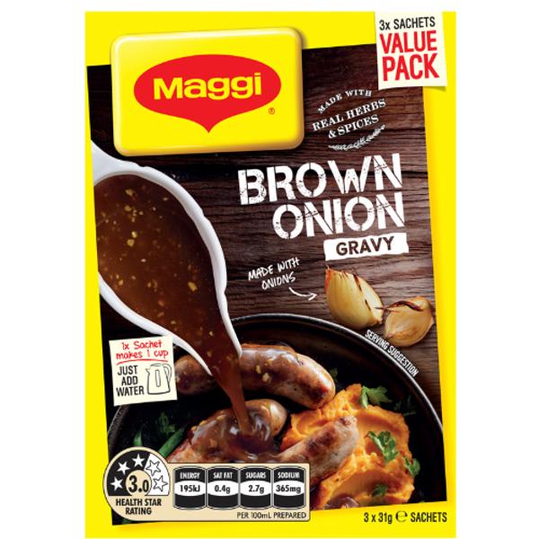 Maggi Brown Onion Gravy Mix 3pk