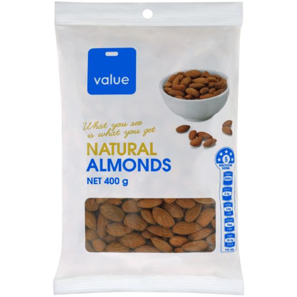 Value Natural Almonds 400g