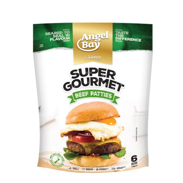 Angel Bay Super Gourmet Burger Patties 6ea