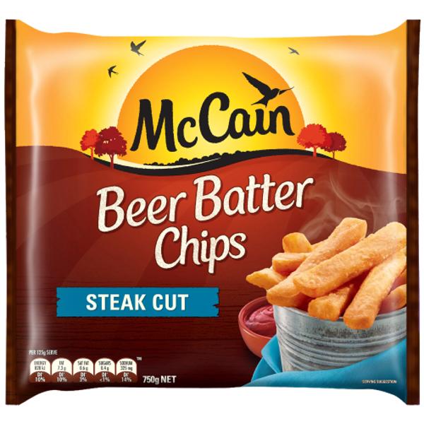 McCain Steak Cut Beer Batter Chips 750g