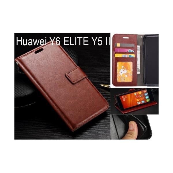 reputable site 8d924 15fa0 Huawei Y6 ELITE Y5 II case Fine leather wallet case 5960c