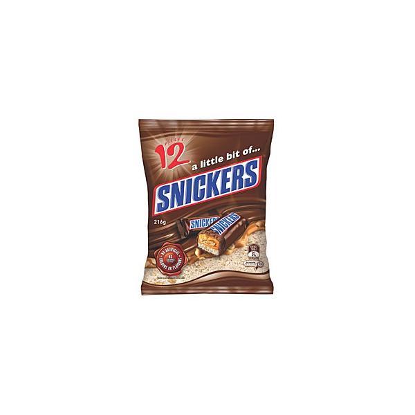 Snickers Funsize  216g (18 x 12pk)