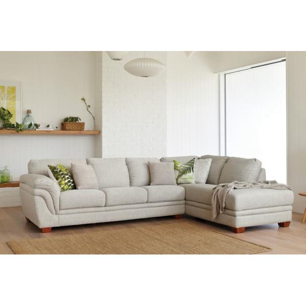 Demi 3 Seater Fabric Lounge with Chaise by La-Z-Boy P6330-CU3LSJ NZ ...