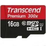 Transcend Premium UHS-I MicroSDHC Class 10 300x 16GB