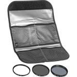 Hoya 58mm Digital Filter Kit with Filter Pouch (Circular Polarizer + Neutral Density + UV Glass Filter)