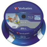 Verbatim 25 GB 6X Blue-ray Disc, BD-R, 25 Pack Yes