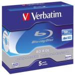 Verbatim 50 GB 6X Blue-ray Disc, BD-R, 5 Pack