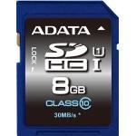 ADATA 8GB SDHC UHS-I Card: Class 10