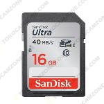 SanDisk Ultra UHS-I SDHC Class 10 40MB/S 16GB