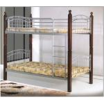 Bella Double Decker Bed with Wooden Post