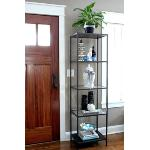 IKEA VITTSJO Shelving unit, black-brown, glass