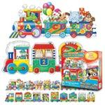 The Learning Journey Puzzle Doubles! Giant ABC - 123 Train Floor Puzzle