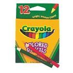 Crayola Coloured Pencils Half Size 12 Pack