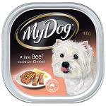 My Dog Prime Beef with Cheese Topping 100g