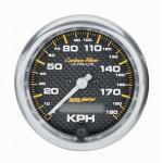 "Autometer 3-3/8"""" Carbon (4787-M) Speedometer, 0-190 kph"