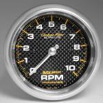 """Autometer 3-3/8"""""""" Carbon (4798) Tachometer, 0-10,000 rpm"""