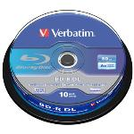 Verbatim Blu-ray Recordable Media BD-R 50GB 6x - 10 Pack T34407