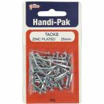 Handi-Pak Tacks 25mm Zinc Plated TACK25T