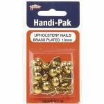 Handi-Pak Upholstery Nails 13mm Brass Plated CHAIRBR