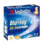 Verbatim BD-R Blu-ray Disc, 25GB, 2X, 135 Min, 5 Pack