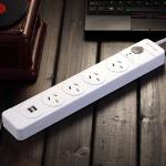 Huntkey 4 Outlet Surge Protected Powerboard with Dual 5V 2.1A USB Ports