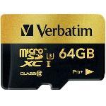 Verbatim Pro+ UHS-I MicroSDXC Class 10 64GB