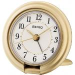 Seiko QHT014G Travel Alarm Clock with Screen Press Function Gold QHT014G