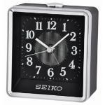 Seiko QHE142K Bedside Beep Alarm Clock with Flashing Light Black QHE142K
