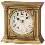 Seiko QXE051G Antique Finish Mantel Alarm Clock Gold QXE051G