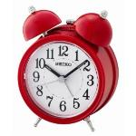 Seiko QHK035R Bell Alarm Clock with Light and Snooze Red QHK035R