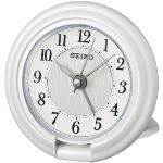 Seiko QHT014W Travel Alarm Clock with Screen Press Function White QHT014W
