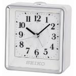 Seiko QHE142W Bedside Beep Alarm Clock with Flashing Light White QHE142W