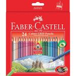 Faber Castell Faber-Castell Coloured Pencils Grip Full Packet 24 Pack