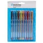 Deskwise Gel Pens Glitter 10 Pack
