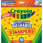 Crayola Ultra Clean Expression Stamper Markers 10 Pack