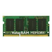 Kingston ValueRAM - Memory - 8 GB - SO DIMM 204-pin - DDR3 - 1600 MHz / PC3-12800 - CL11 - 1.5 V - unbuffered - non-ECC KINGSTON