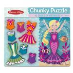 Melissa and Doug: Mermaid Dressup Chunky Puzzle