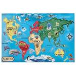Melissa and Doug: World Map Floor puzzle 33pc