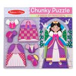 Melissa and Doug Princess Dressup Chunky Puzzle