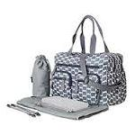 Smokey Blue Eclipse Dot Carry All Nappy Bag