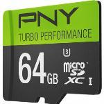 PNY 64G Turbo Performance High Speed microSD Memory Card (U3, C10)